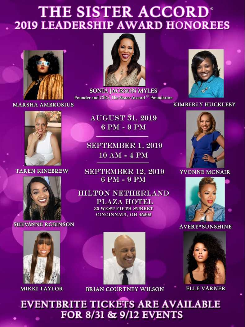 Sister Accord 2019 Honorees