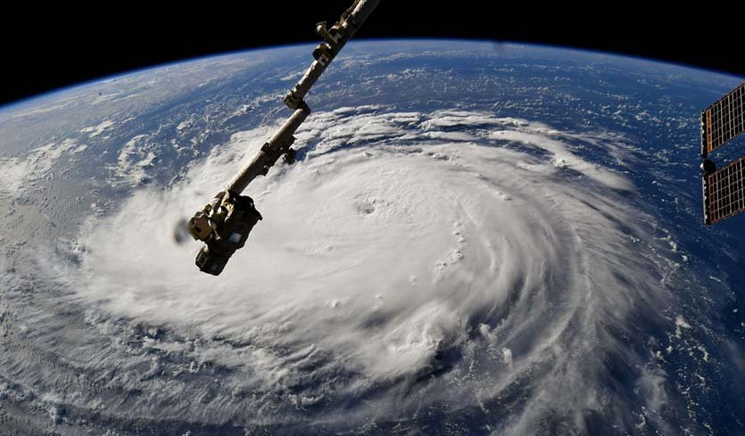 Hurricane approaching USA - (NASA image)