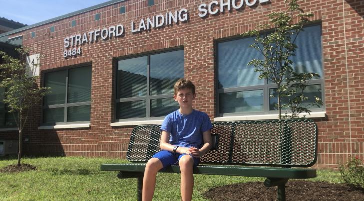 Dalton outside Stratford Elementary in Fairfax County Virginia