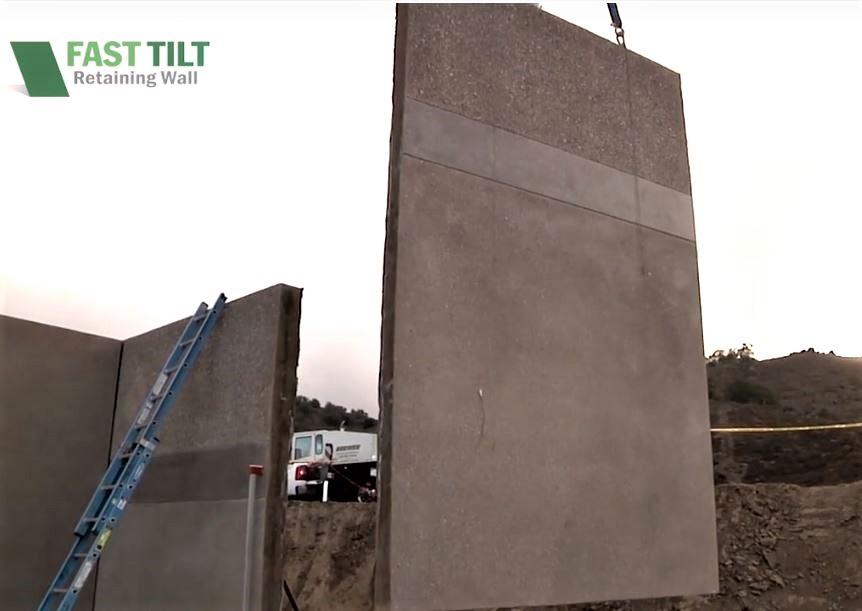 Placing Fast Tilt Retaining Wall Panels