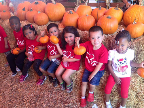 Kids at the Pumpkin Patch