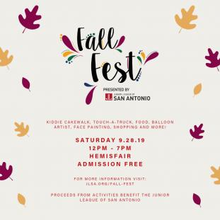 Fall Fest Flyer - Junior League of San Antonio
