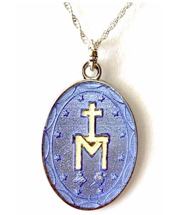 Vitreous Enamel Medal of Pilgrimage from Tresor Bleu