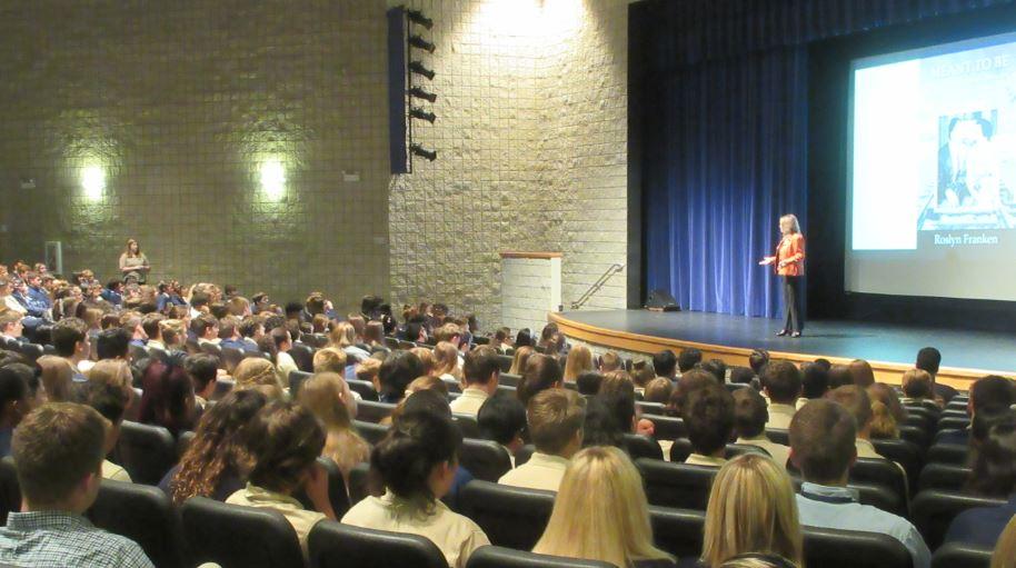 Roslyn Franken, Distinguished Speaker at Bishop McLaughlin High School Assembly
