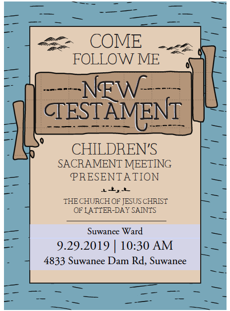 Suwanee Children's Program Invitation