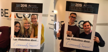 Staff from Beacon Media + Marketing showing their support of the Hope Gala 2019.