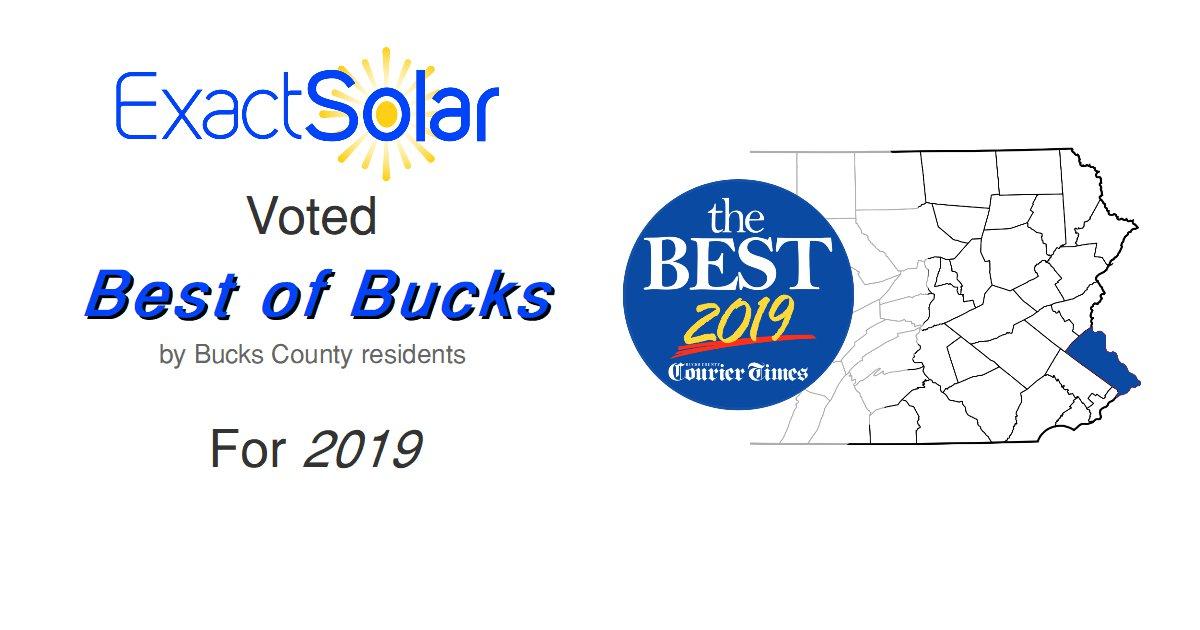 Exact Solar Wins Best of Bucks for 2019
