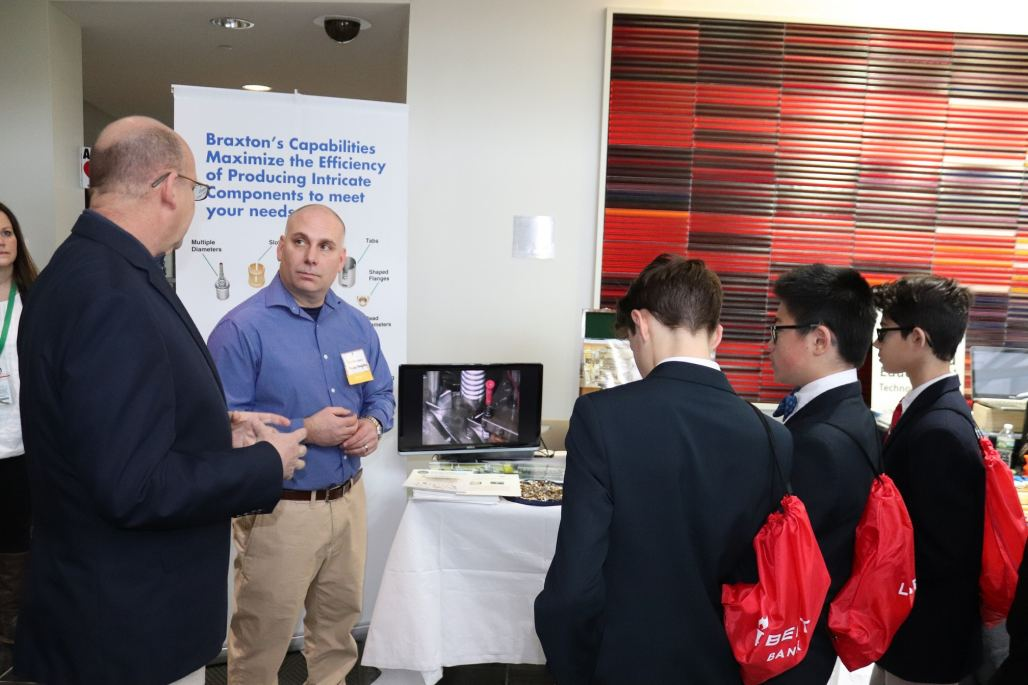 Braxton Manufacturing executive spoke with attendees at the 2018 STEM Expo