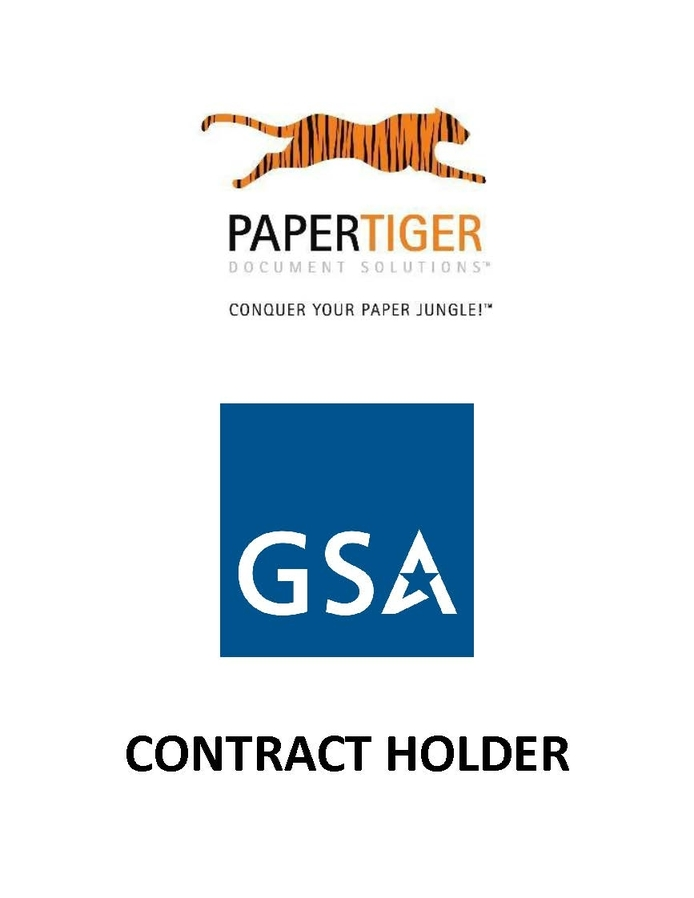 Paper Tiger Document Solutions - GSA Holder