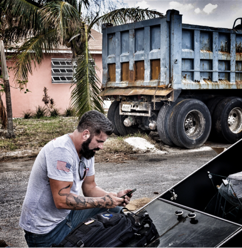 Acumentrics Pack Power in Use Post-Hurricane Dorian by the DART Team