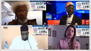 Professors Soyinka, Imafidon, Dambazau & Ms Yamout