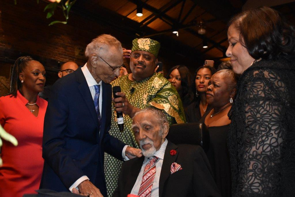 Rev. C.T. Vivian honors Rev. Joseph Lowery during his 98th birthday celebration