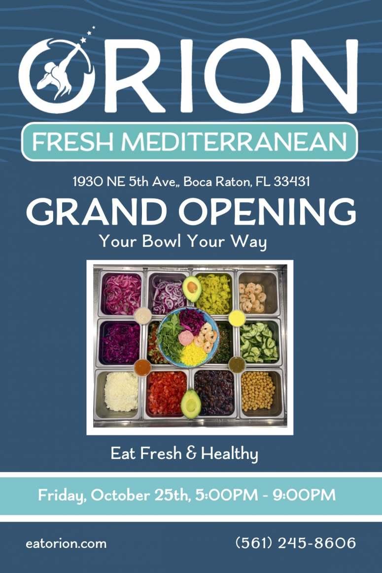 Ribbon Cutting Grand Opening of Orion Fresh Mediterranean in E. Boca Raton