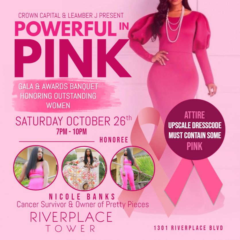 Powerful In Pink Flyer