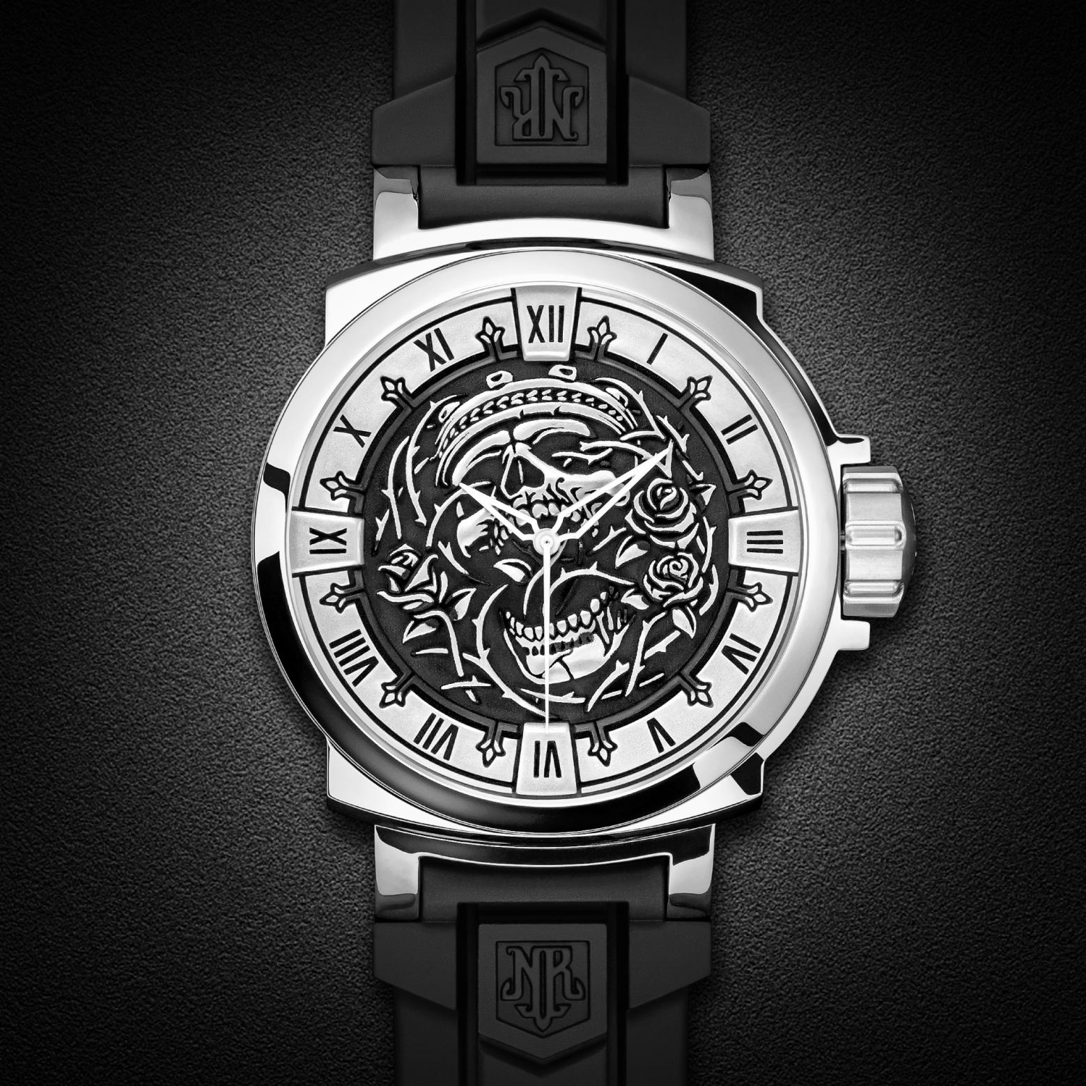 """Rose From the Dead"" Swiss Automatic Watch by NightRider Jewelry"