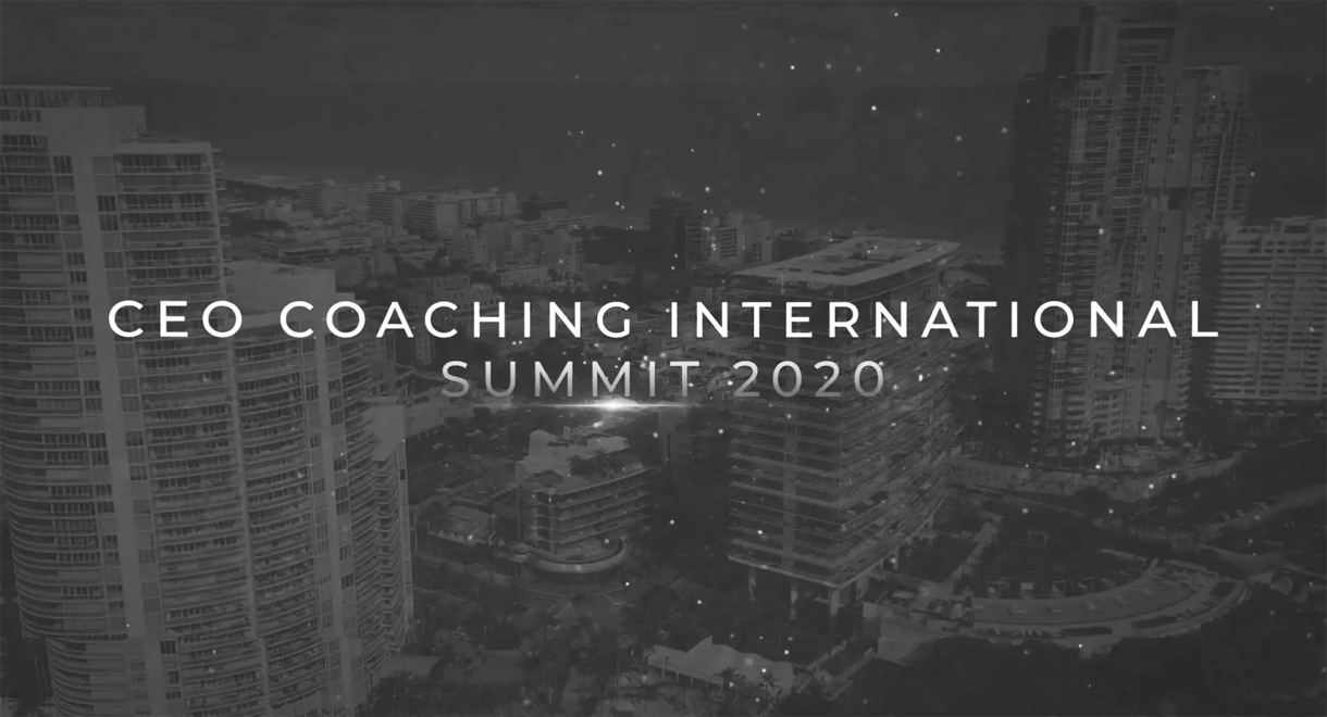 CEO Coaching International Announces Dates for 2020 CEO Summit