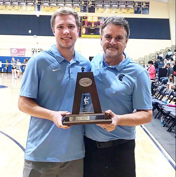 Championship Coach Jim Seidel, pictured right