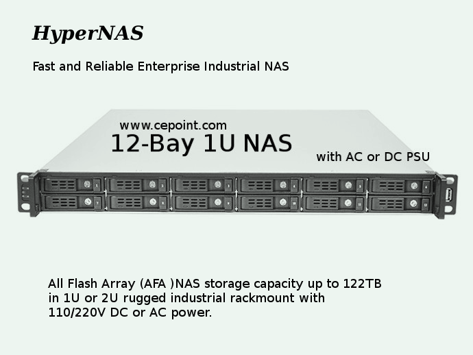 cepoint -HyperNAS-RM1712 1U 8-12 bay storage-5