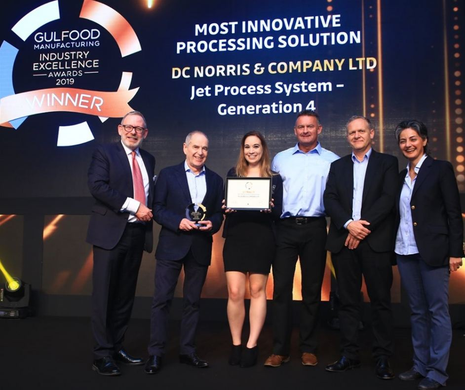 DC Norris team receives Most Innovative Processing Solution award at Gulfood