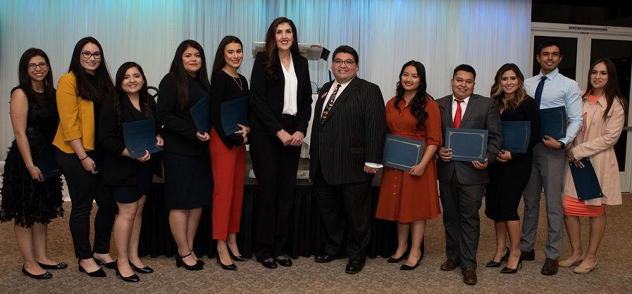 LBA Board Members (center) & Scholarship Recipients