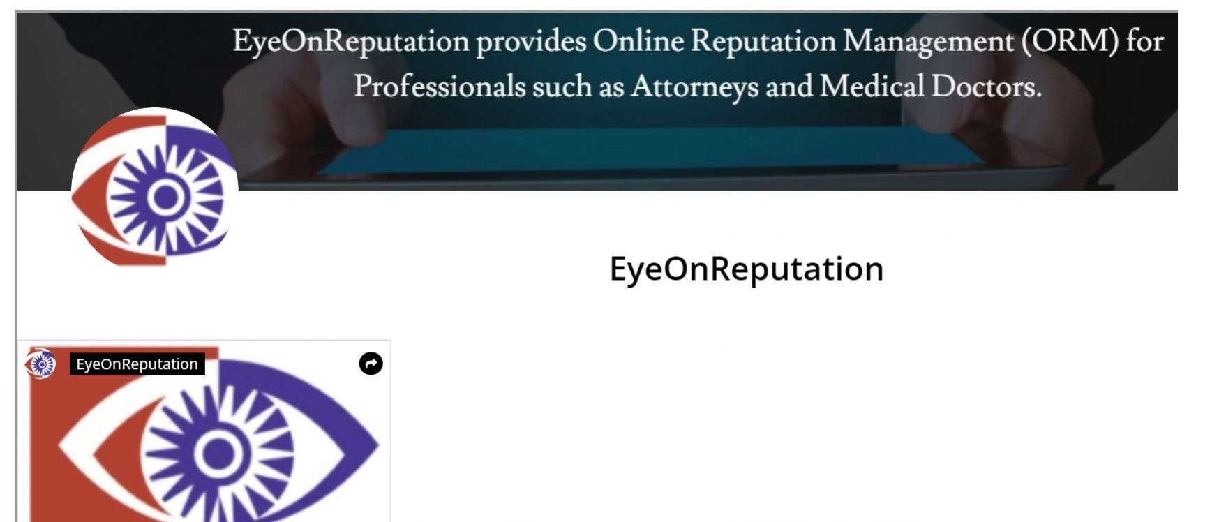 News about EyeOnReputation
