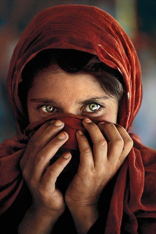 Steve McCurry, Afghan Girl Covering Face, 1984