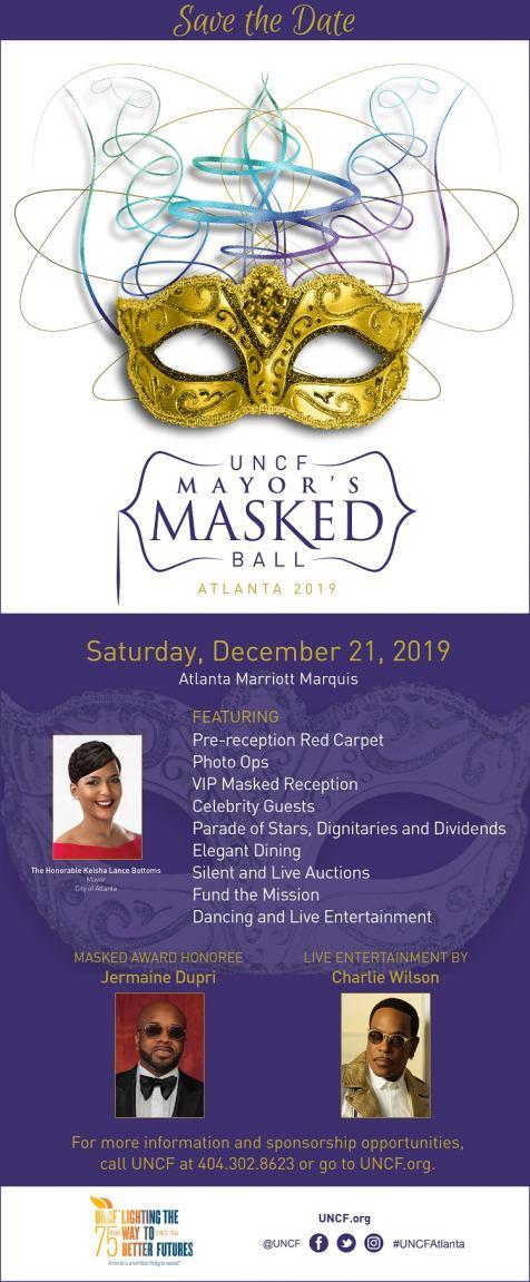 UNCF Atlanta Mayor's Masked Ball 2019