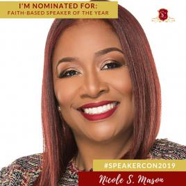 #SpeakerCon2019 Faith-Based Speaker of the Year Award Winner Nicole S Mason