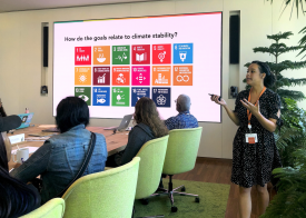 EcoRise Climate Week 2019 teacher training at the Salesforce Tower