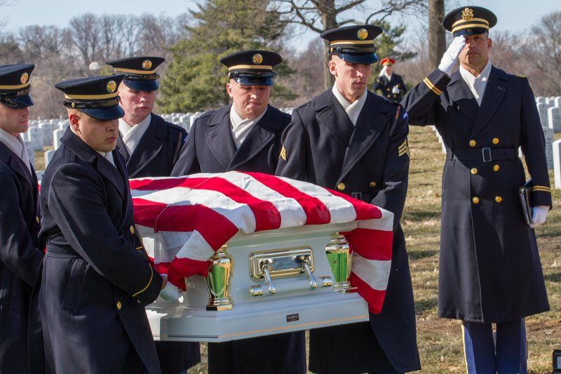CHAP Theodore Randall Salutes Sp5 Wyley Wright Jr. & Ouida Wright at Arlington