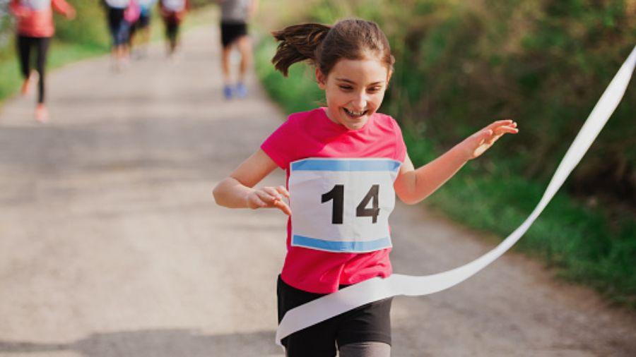 Challenge your kids to run a 5K, like the Rotary Santa Run!