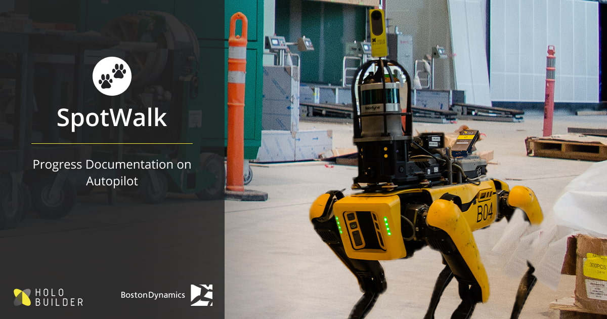 SpotWalk is the first of its kind robotic 360° progress documentation solution.