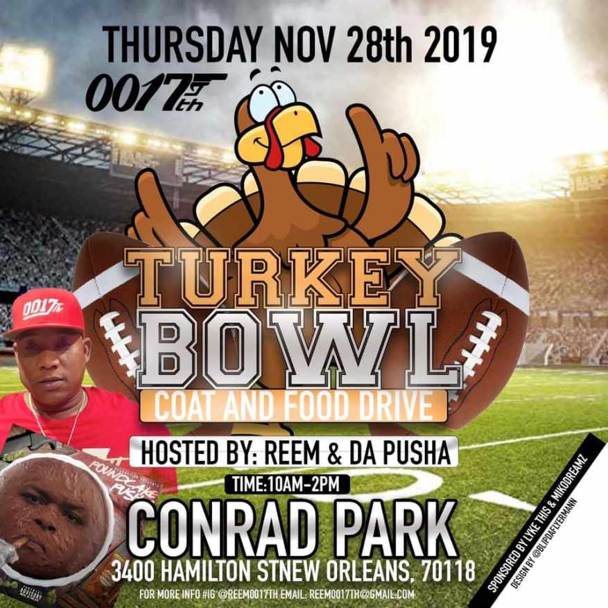 Annual Turkey Bowl to be held in Hollygrove