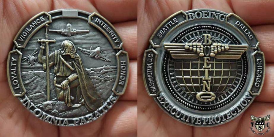 Boeing Executive Protection Coin