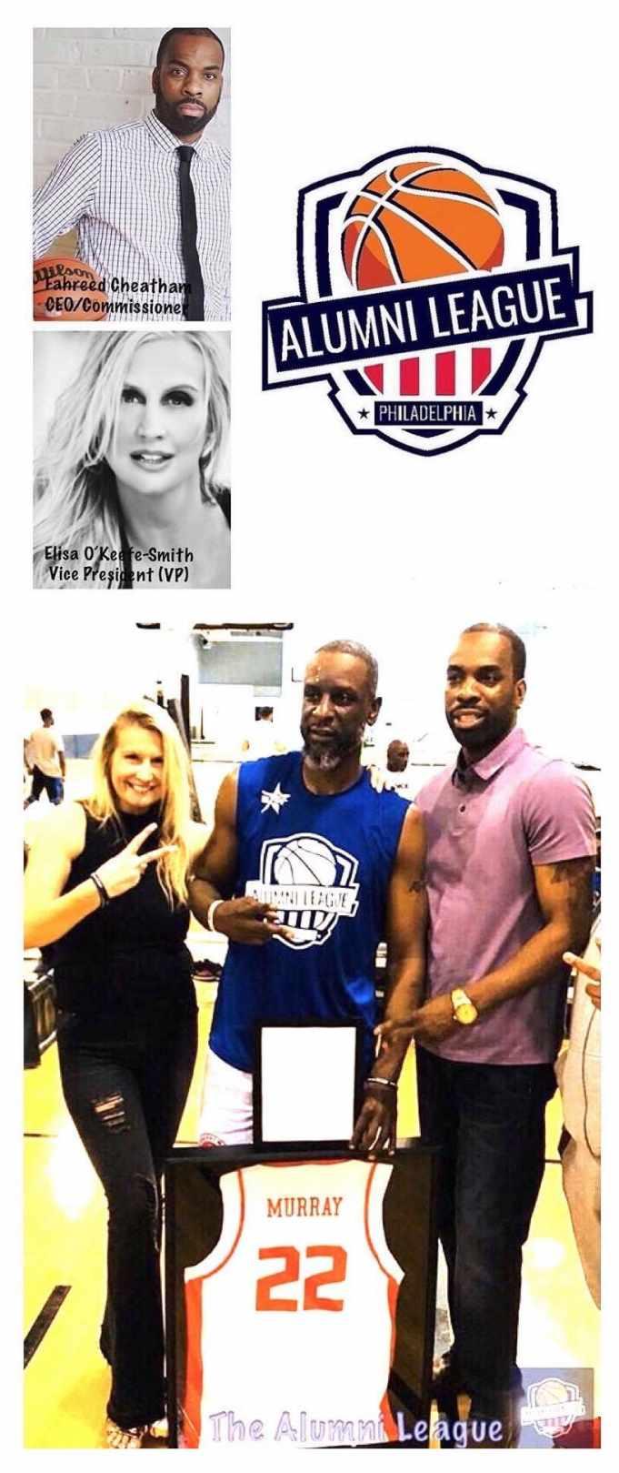 Cheatham & O'Keefe-Smith w/ Alumni League Star Player & ex-NBA vet Flip Murray
