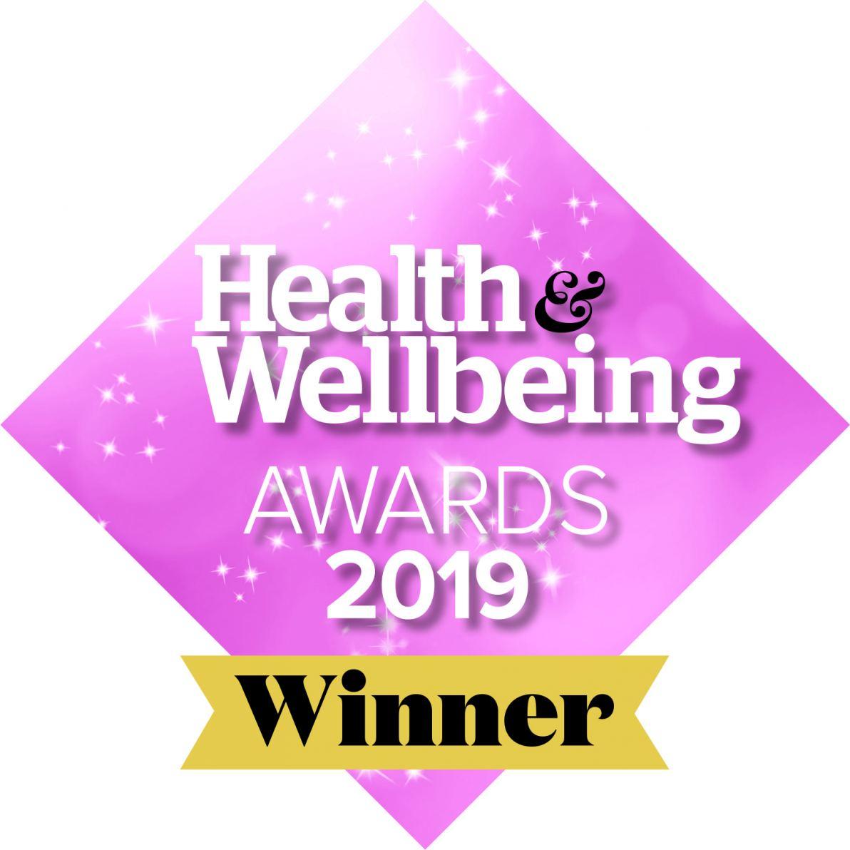 Winner Health & Wellbeing Awards 2019