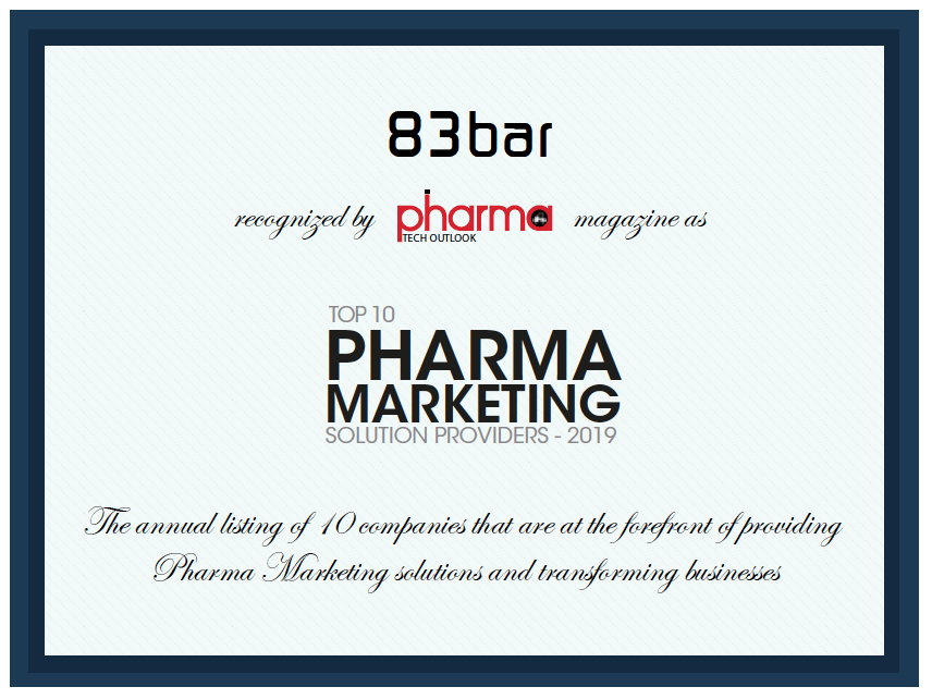 83bar recognized as Top 10 Marketing Solution Provider