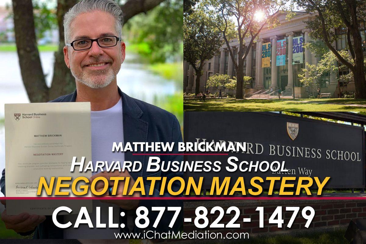 Harvard Business School Completion - Matthew Brickman iMediate Inc.