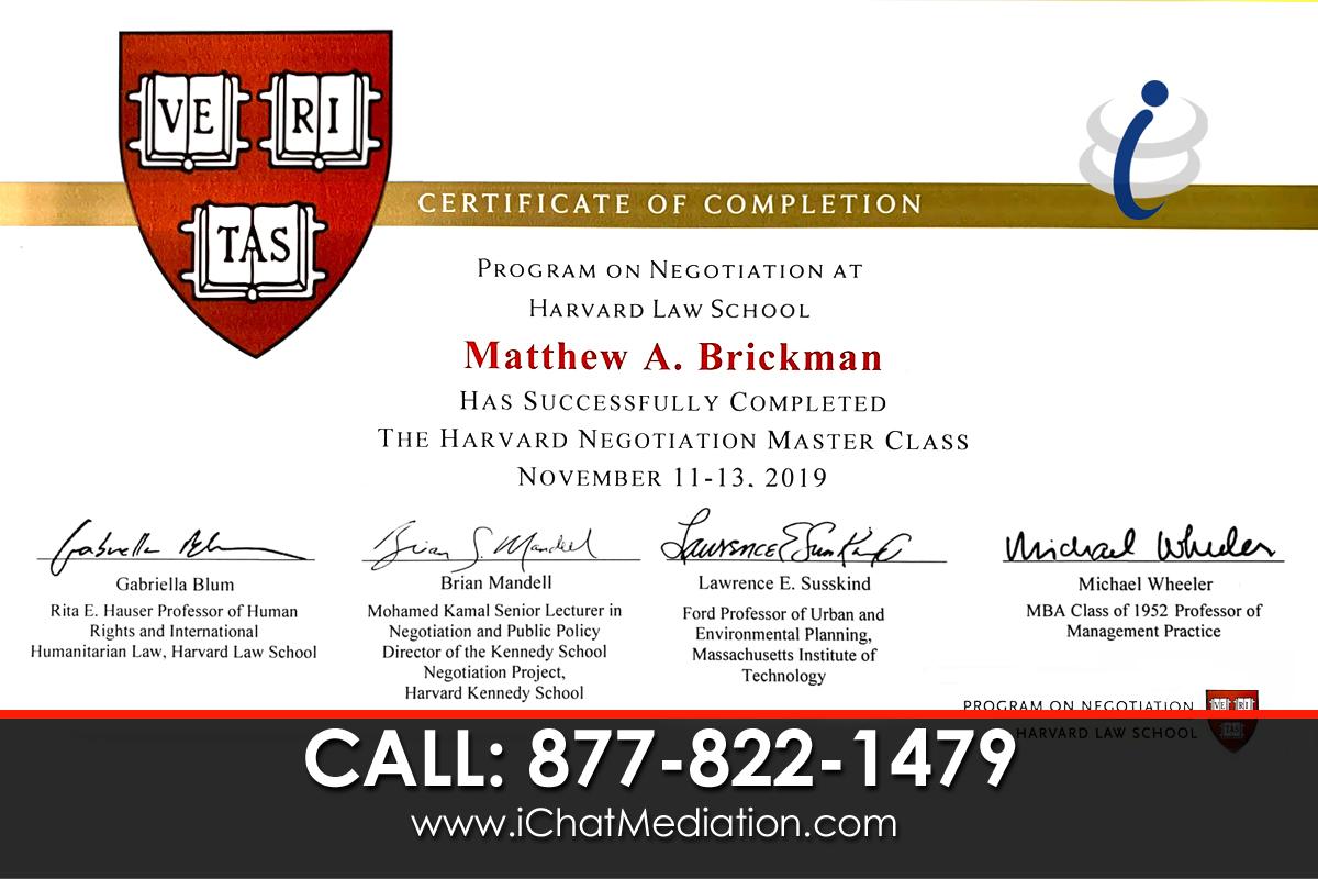 Harvard Law School Negotiation Master Class - Matthew Brickman
