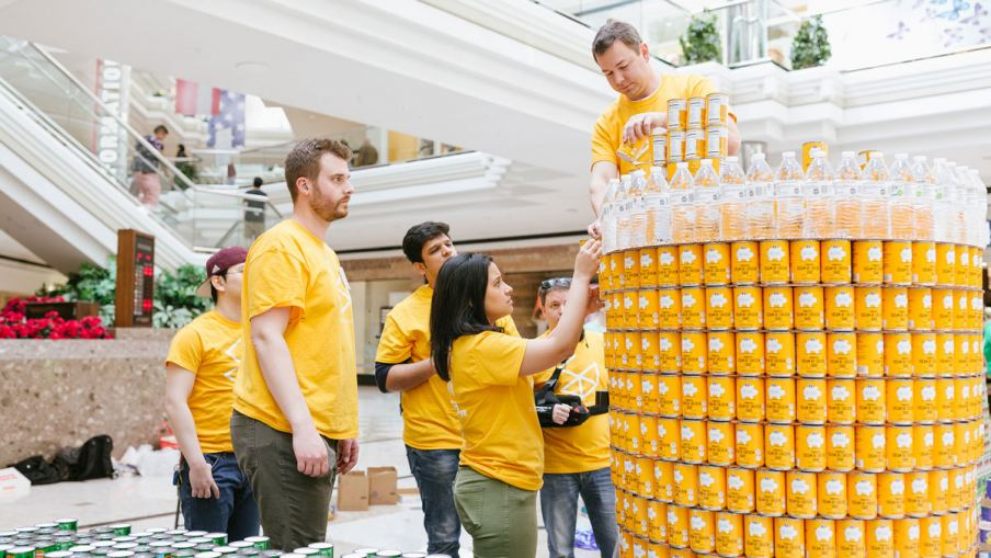 100 Days Of Giving includes CANstruction