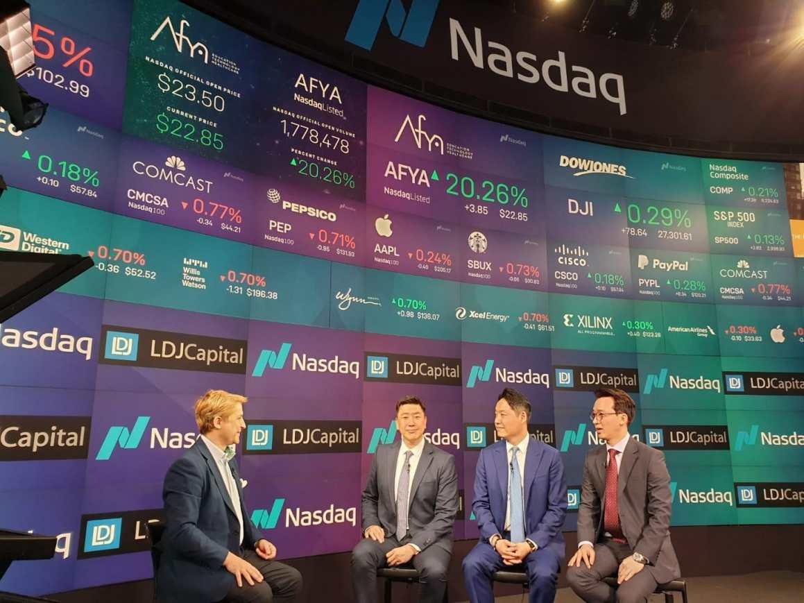 Starcave Global executive team at NASDAQ Marketsite in New York