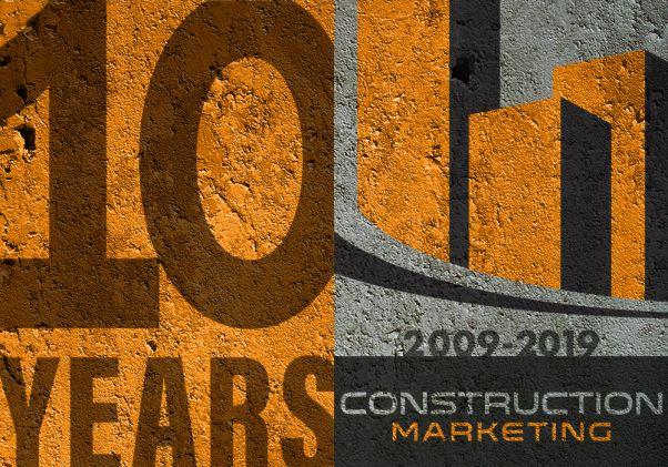 Construction Marketing 10th Anniversary Badge