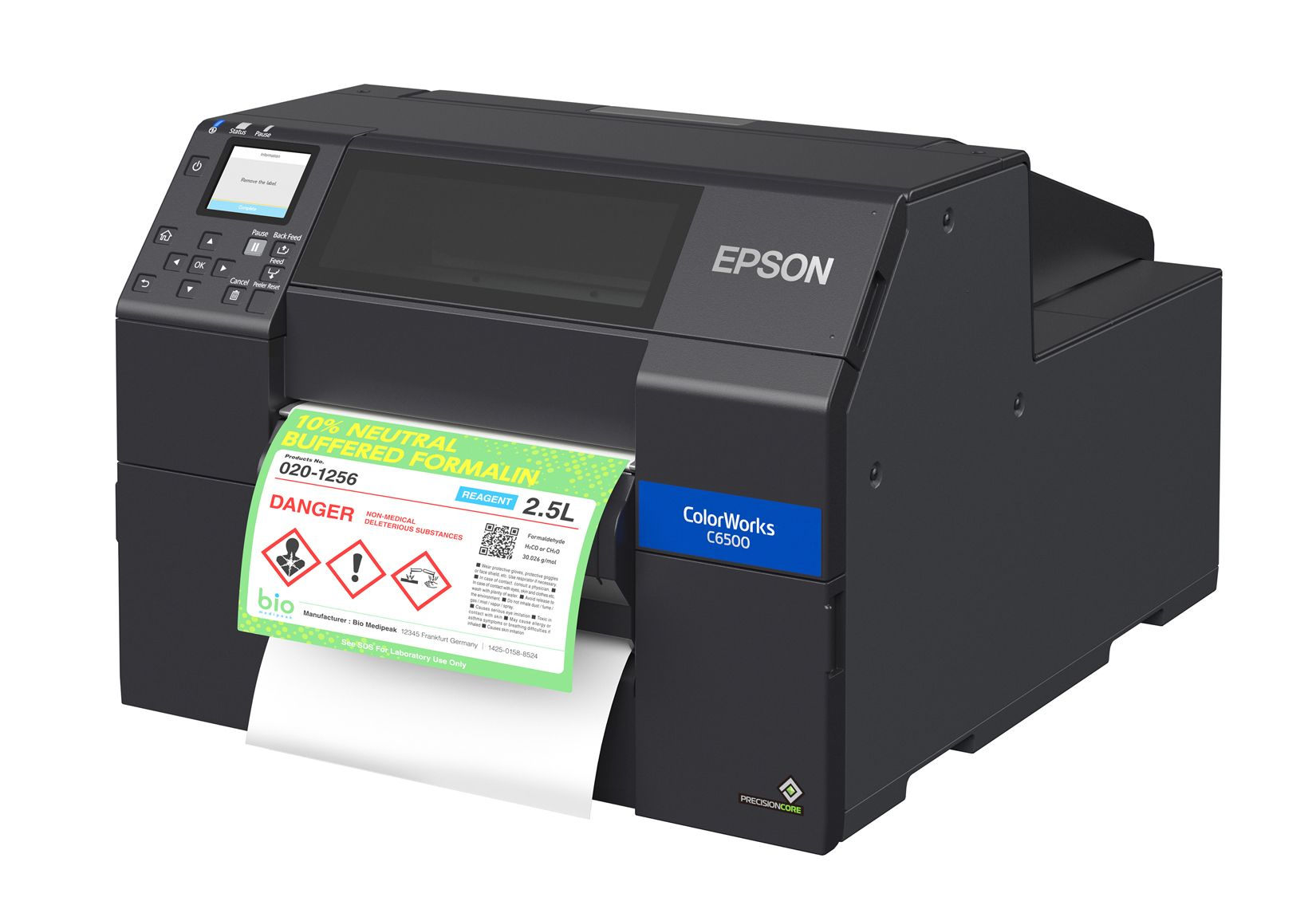 Epson ColorWorks CW-6500P color label printer with peel and present