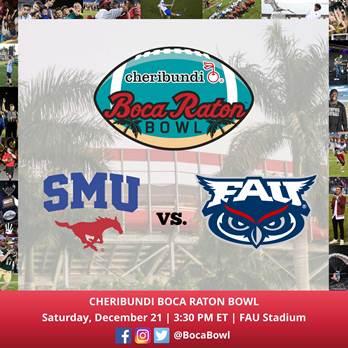 Logo-SMU VS FAU Cehribundi Boca Raton Bowl