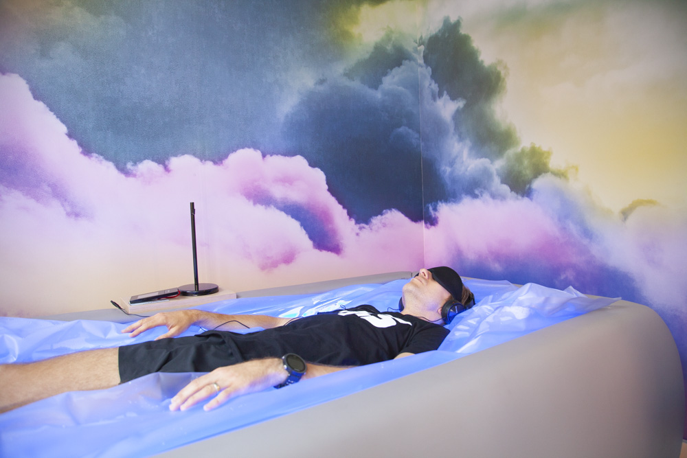 FICS' zero-body dry floatation device is the first in New York City.
