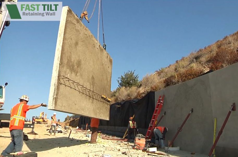 Fast Tilt retaining wall under construction
