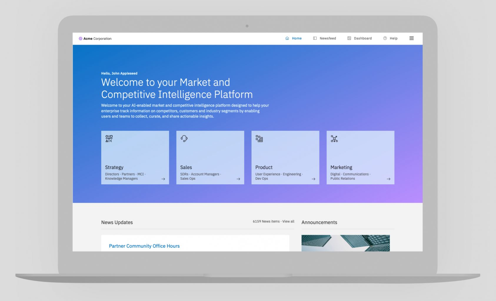 Contify · Market and Competitive Intelligence Platform