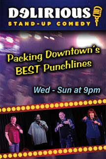 Delirous Comedy Club Brings Nightly Laughter To Downtown Las Vegas