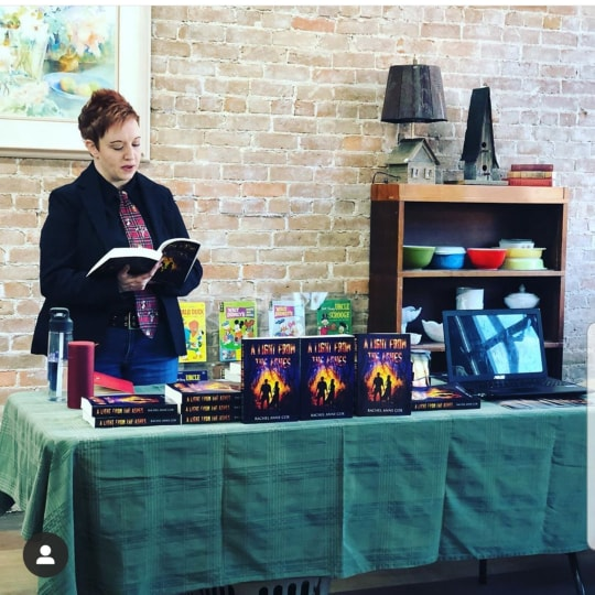Rachel Anne Cox reading from A Light From The Ashes at 3 Goats Gruff in Utah