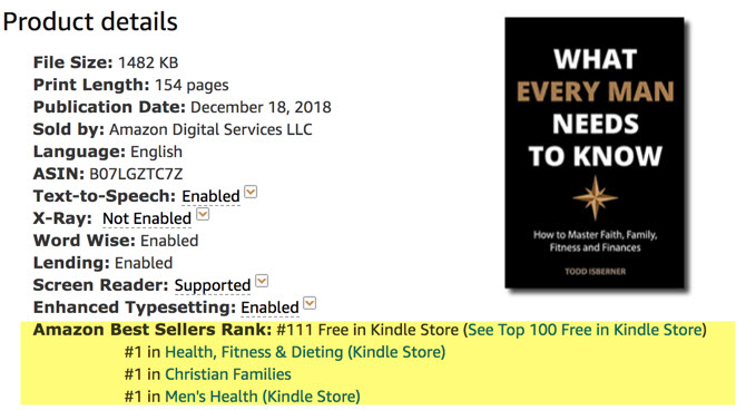 What Every Man Needs To Know - #1 Amazon Bestseller